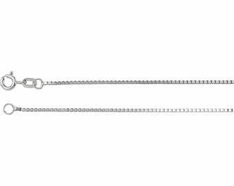 """16'' , 18"""" , OR 24'' sterling silver box chain strong 1mm thick"""