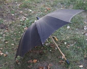 Umbrella Antique umbrella Vintage umbrella Old fashioned Rain umbrella Rain accessories Umbrella ussr Canvas umbrella Black umbrella USSR