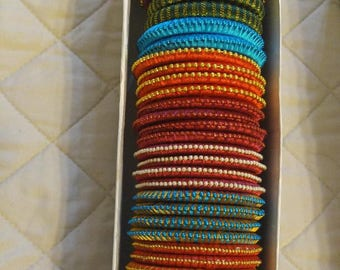 Bracelets - Beautiful silk thread bangles