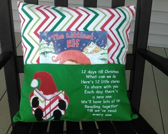Christmas kids book/reading pillow