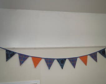 Retro Fabric Bunting/ Colorful Bunting/ Party Decoration/ Flags