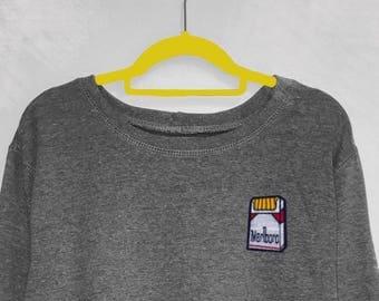 Marlboro Red Cigarettes embroidered patch sweatshirt