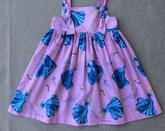 Cinderella Knot Dress, Girl Knot Dress, Handmade Knot Dress, Princess Knot Dress