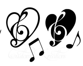Music_Heart_Notes   SVG File