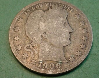 1906 Barber Quarter The Coin you see is the Coin You get <> # ET1073