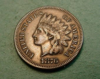 1876 Indian Head Cent Good  Extra Fine / Insurance included in SH  <>ET5361