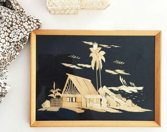 Vintage Japanese Straw artwork