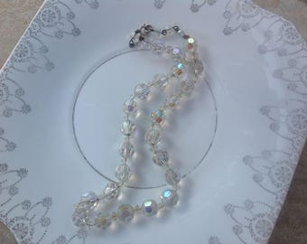 Vintage glass beaded necklace 1960s