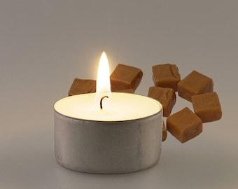 Salted Caramel Vegan Soy Handmade Scented Tealights