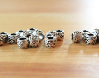 silver spacer beads 8x6mm antique silver spacer beads silver beads wholesale beads silver wholesale beads