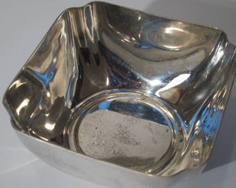 Reed and Barton Square Silver Plated Bowl - 1953
