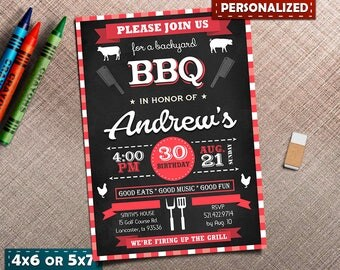 BBQ Invitations, BBQ Birthday, BBQ Birthday Invitation, bbq Party Invitations, Barbecue Party, Barbecue Invitation, bbq backyard, backyard