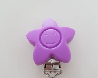 Silicone - purple sun clip