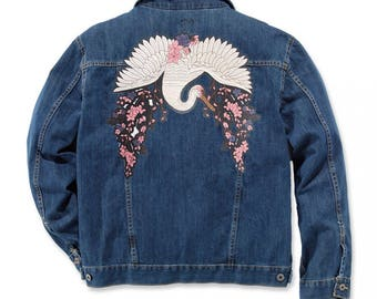 Bird Patch Large Jacket Patch Iron On Patch