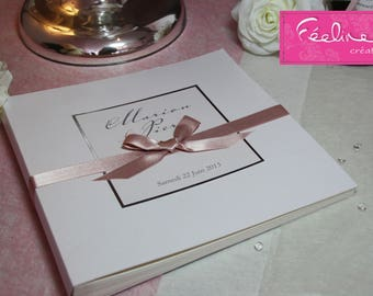 """So Chic"" Feeline custom design guest book wedding guestbook"