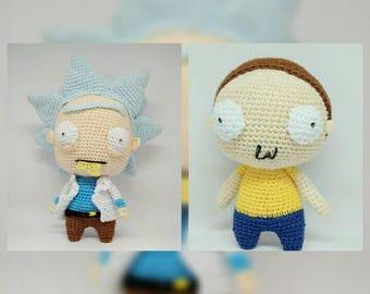 Rick and morty amigurumi doll