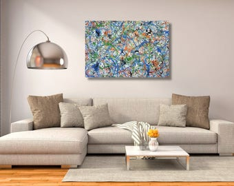 """24"""" x 72"""" X-large abstract painting"""