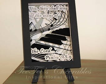 Musical Lover's Praises Beautiful Inspirational Card