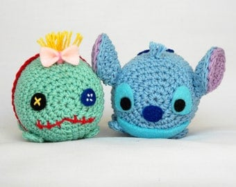 Tsum tsum disney stitch and scrump amigurumi PATTERN - Tsum tsum crochet doll