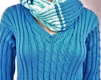 Wool Sweater, pullover, sweater handmade sweater and snood, winter, warm pullover sweater, Wool Sweater of wool, sweater, Snood, snood