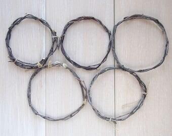 Dream catcher base/5 circle base/DIY/Willow circle/base for weaving/dry circle/dried wood circle/round circle/round base/catcher of dreams