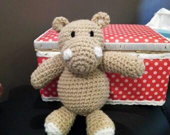doudou au crochet hippopotame