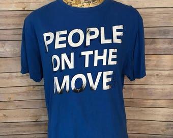 Vintage Kappa People On the Move T-Shirt (L)