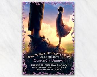 BFG Invitation for Birthday Party - Printable Digital File