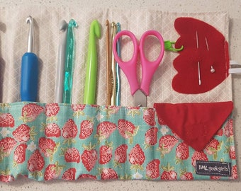 Crochet Rollup - bag - hook carrier - hook bag