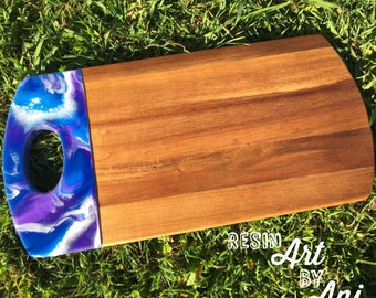 Majestic - resin serving board/acacia wood cheese board 40x20cm