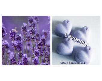 Lavender | flower | wax melts | floral scents | highly scented | soy wax | wax tarts | scented candle | wedding favour