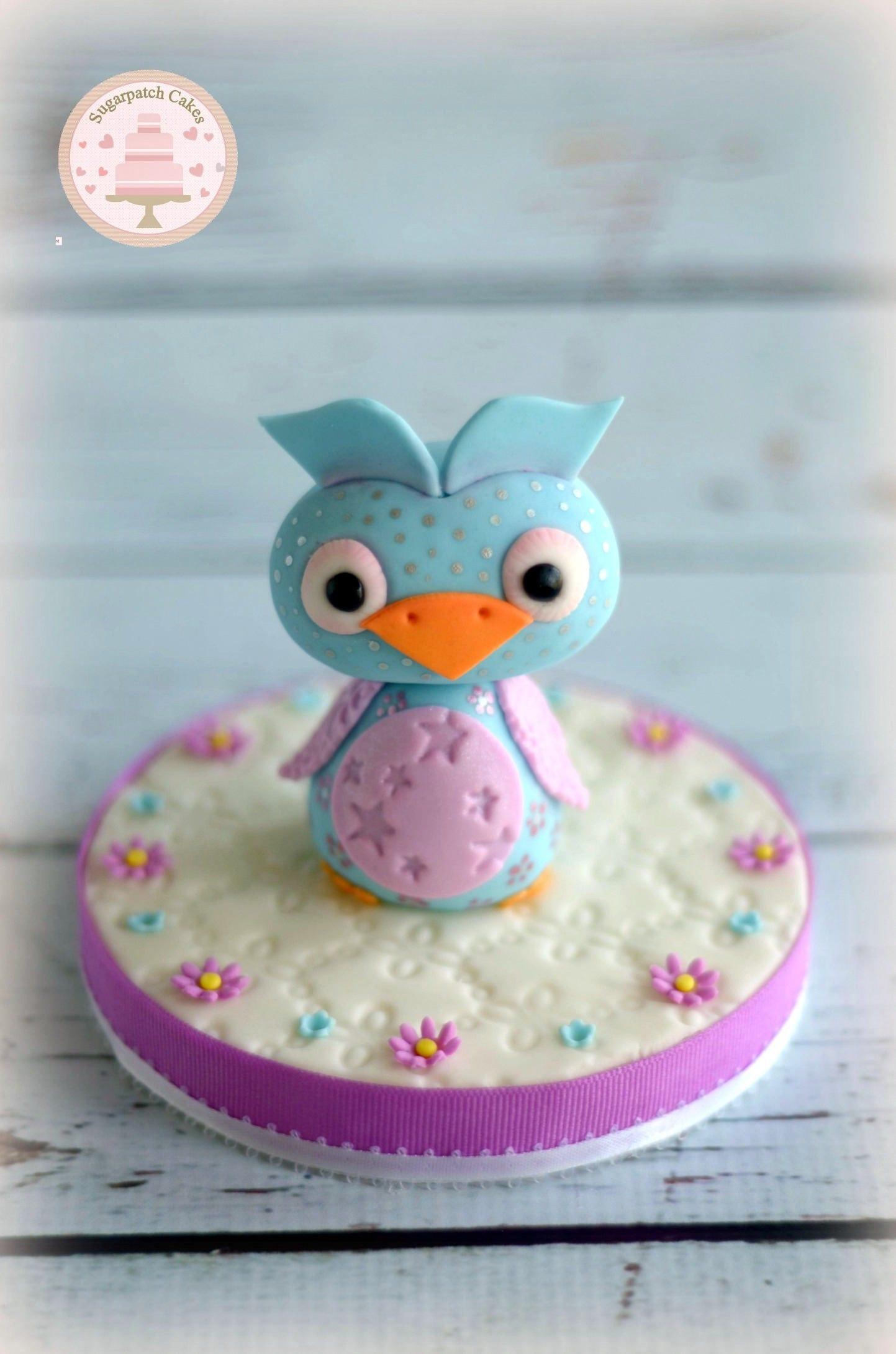 Fondant Cake Topper Owl Cake Topper Cute Cake Topper