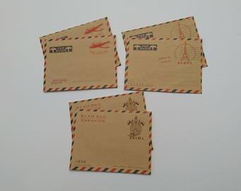 6 pcs mini envelopes, kraft envelopes