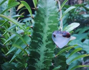 Bleeding Heart Agate Necklace
