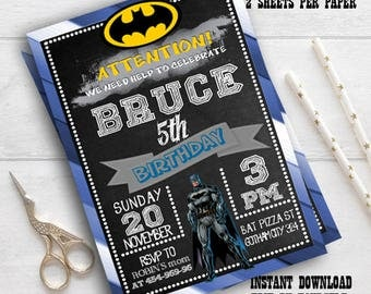 Instant Download-Batman Invitation,Batman Invitation Printable,Batman Invitation Digital Download,Batman Birthday,Superhero Invitation