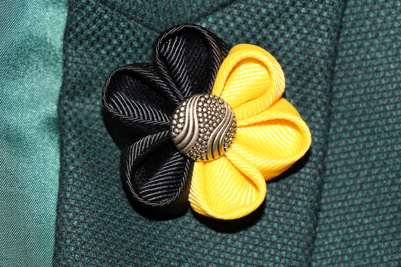 Yellow lapel flower pin mens lapel pin kanzashi lapel pin black yellow lapel flower pin mens lapel pin kanzashi lapel pin black yellow flower kanzashi flower mightylinksfo