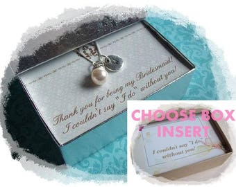 BRIDESMAID GIFT - Bridesmaid Necklaces, Bridesmaid Jewelry , Bridesmaid Gift Box, Bridesmaid Jewelry Gift, Proposal Box, Bridesmaid Box
