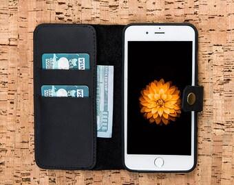 iPhone 5S Wallet, Leather iPhone 5S Wallet, iPhone 5S Leather Wallet Case, iPhone Se Case, iPhone Se Wallet, iPhone 5 Wallet Case - BLACK