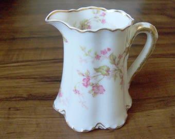 Vintage Limoges porcelain creamer. France (#EV120)