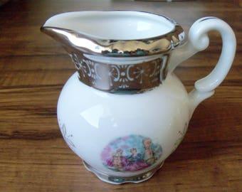 Vintage Russian porcelain creamer. Limited edition (#EV128)