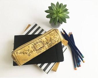 Hogwarts Map Pencil Case Harry Potter Pencil Pouch Hogwarts Map Paintbrush Case