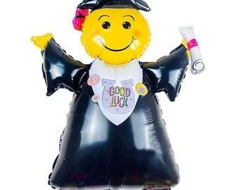 """40"""" Jumbo Graduation Foil Balloon, Graduate Birthday Balloon, Graduation Decor,  Party Decorations, Good Luck Balloon"""