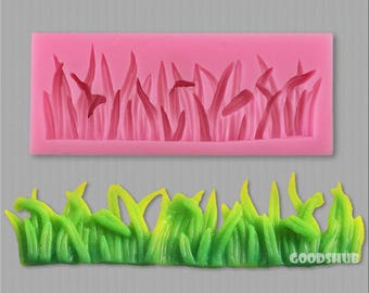 Silicone Grass Mold 3D Lawn Shaped Mould for Chocolate Fondant Jelly Sugar Gumpaste Cake Sugarcraft Icing Polymer Clay Mold DIY - Food Safe