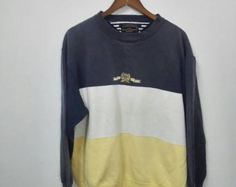 Vintage TOMMY HILFFIGER Sweatshir Multicolour Design