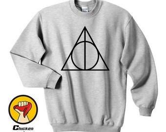 Deathly Hallows shirt Harry Potter shirt Harry Potter clothing Top Crewneck Sweatshirt Unisex More Colors XS - 2XL