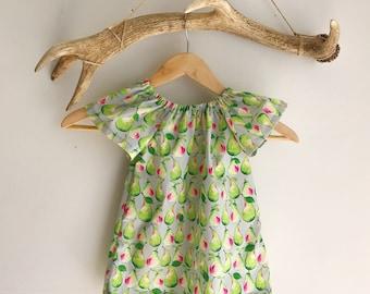 Baby girls Summer Dress / Toddler Summer Dress / Peasant girls dress