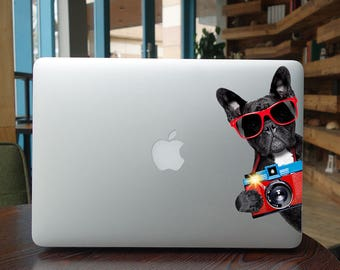 The dog laptop sticker for macbook pro skin macbook sticker macbook air sticker macbook front decal