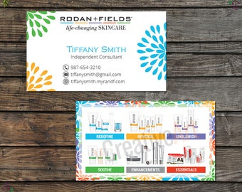 Rodan and Fields Business Cards, Fast Personalized, Rodan + Fields Independent Consultant, Modern Business Cards RF11