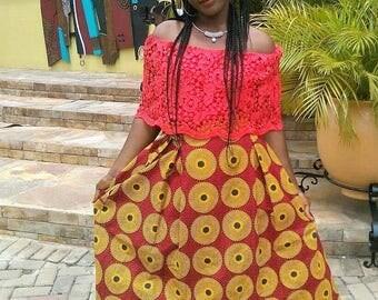 Ankara maxi skirt, maxi skirt, African skirt, African maxi skirt, African skirts for women, Dashiki skirt, African print skirt, Ankara skirt
