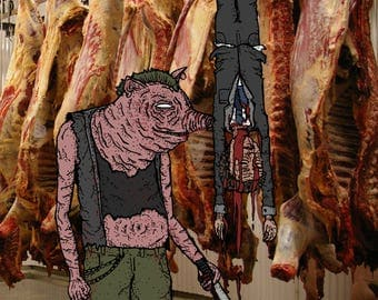 RAGE OF PIGS- prints A4